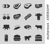 beef icons set. set of 16 beef... | Shutterstock .eps vector #658581049