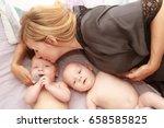 indoor portrait of young happy... | Shutterstock . vector #658585825