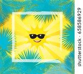 summer tropical vector... | Shutterstock .eps vector #658586929
