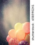 many colorful baloons in the... | Shutterstock . vector #658590241