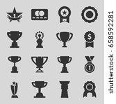 reward icons set. set of 16... | Shutterstock .eps vector #658592281