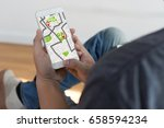gps map to route destination... | Shutterstock . vector #658594234