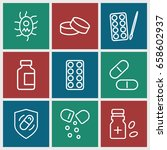 pill icons set. set of 9 pill... | Shutterstock .eps vector #658602937