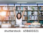 student asian girl study with... | Shutterstock . vector #658603321