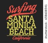 california  santa monica beach... | Shutterstock .eps vector #658608541