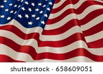 a united states flag with a... | Shutterstock . vector #658609051
