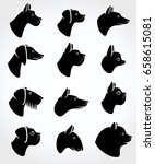 dogs set. vector | Shutterstock .eps vector #658615081