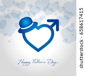 fathers day vector illustration | Shutterstock .eps vector #658617415