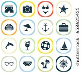 season icons set. collection of ... | Shutterstock .eps vector #658625425