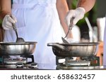 cooking on the table with a... | Shutterstock . vector #658632457