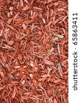 red mulch background. wood... | Shutterstock . vector #65863411