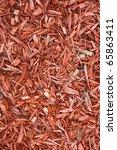 red wood chips mulch for garden ... | Shutterstock . vector #65863411