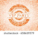 vip party abstract orange... | Shutterstock .eps vector #658639579