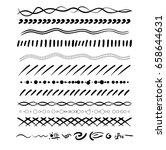 set of handdrawn borders.   Shutterstock .eps vector #658644631