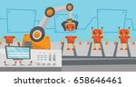 factory production line with... | Shutterstock .eps vector #658646461
