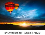 colorful hot air balloons... | Shutterstock . vector #658647829