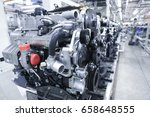 modern automatic automobile... | Shutterstock . vector #658648555