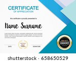 certificate template clean and... | Shutterstock .eps vector #658650529