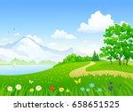 vector cartoon drawing of a... | Shutterstock .eps vector #658651525