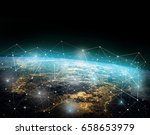 global network internet concept.... | Shutterstock . vector #658653979