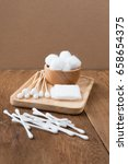 cotton bud wood stick or cotton ... | Shutterstock . vector #658654375