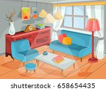 vector illustration of a cozy... | Shutterstock .eps vector #658654435