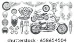 set of vector illustrations ... | Shutterstock .eps vector #658654504