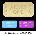ticket templates | Shutterstock .eps vector #65865550