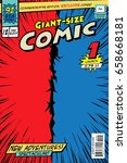 comic book cover. giant size in ... | Shutterstock .eps vector #658668181