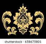 golden vector pattern on a... | Shutterstock .eps vector #658675801