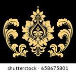golden vector pattern on a... | Shutterstock .eps vector #658675801