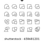 messages ui pixel perfect well... | Shutterstock .eps vector #658681201
