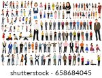isolated  collection isometric ... | Shutterstock .eps vector #658684045