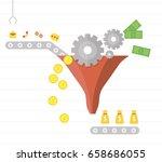 lead generation. process of... | Shutterstock .eps vector #658686055