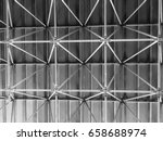 metal structure of steel roof... | Shutterstock . vector #658688974