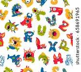 seamless vector pattern of... | Shutterstock .eps vector #658691965