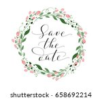 save the date card with... | Shutterstock .eps vector #658692214