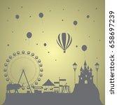 the dream theme park for kids | Shutterstock .eps vector #658697239
