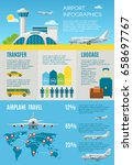 air travel infographic with... | Shutterstock .eps vector #658697767