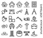 construction icons set. set of... | Shutterstock .eps vector #658706641