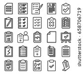 clipboard icons set. set of 25... | Shutterstock .eps vector #658706719