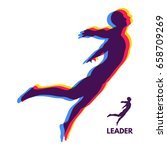 leadership concept. personal... | Shutterstock .eps vector #658709269
