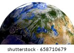 planet earth in space... | Shutterstock . vector #658710679