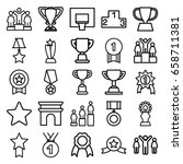 victory icons set. set of 25... | Shutterstock .eps vector #658711381