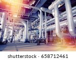 equipment  cables and piping as ... | Shutterstock . vector #658712461