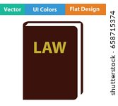 law book icon. flat color...