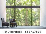 modern loft living room with... | Shutterstock . vector #658717519