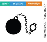 fetter with ball icon. flat...   Shutterstock .eps vector #658718227