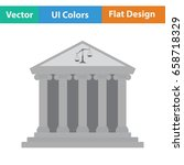 courthouse icon. flat color...