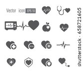 heart medical icon. icon heart... | Shutterstock .eps vector #658721605